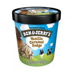 BEN & JERRY'S VANILLA CARAMEL FUDGE  473ml - 1 TUB: ...