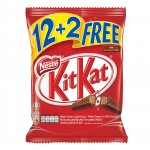 KIT KAT® 2 Finger Milk Chocolate Bar Snack Pack 12+2S  ...